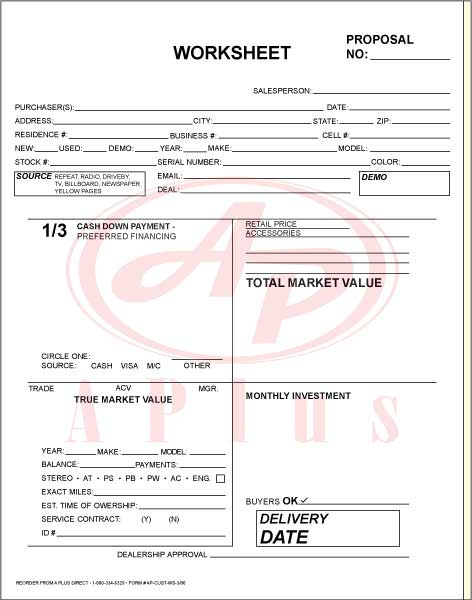 Sales Forms