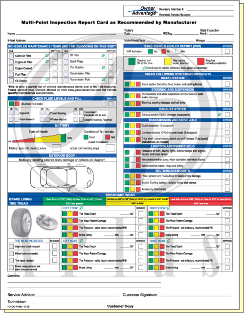 vehicle inspection form pdf - Ideal.vistalist.co