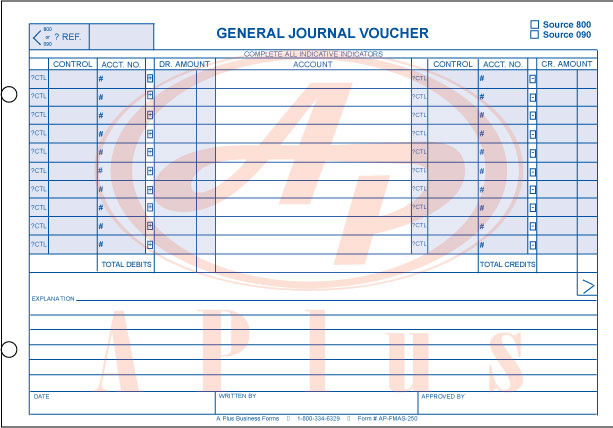 General Journal Voucher Ap Fmas 250