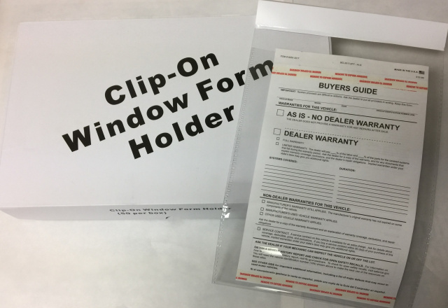 Clip On Window Form Holder
