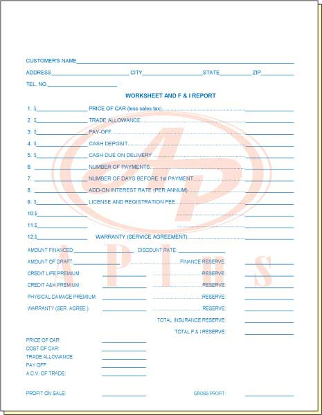 A Plus prints Custom Sales Sheets!