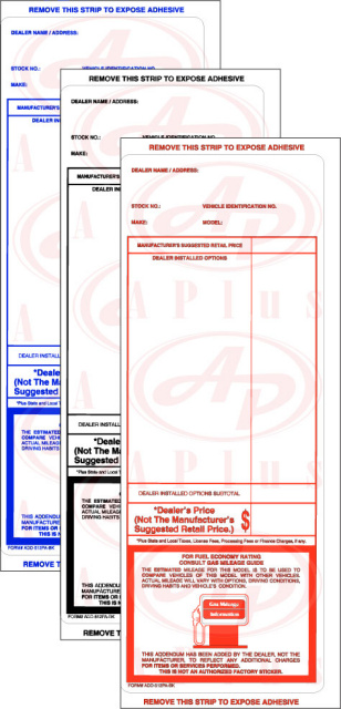 AP-ADD-512PA • Addendum Sticker