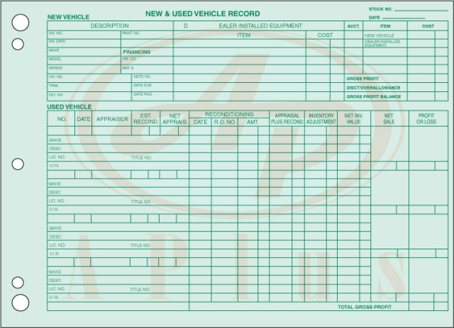 AP-GM-532 • Vehicle Inventory Records